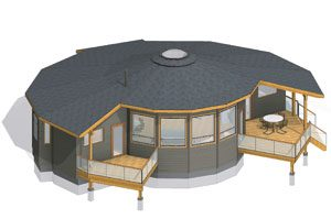 Round House Plans Circular Floor Plans Prefab Kits Energy Star