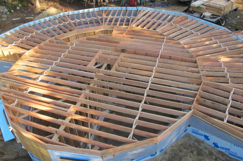 Construction Of A New Round Home