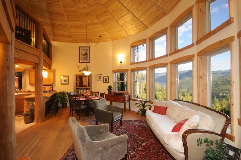 Aspen 1500 Show Home Mandala Homes Prefab Round Homes