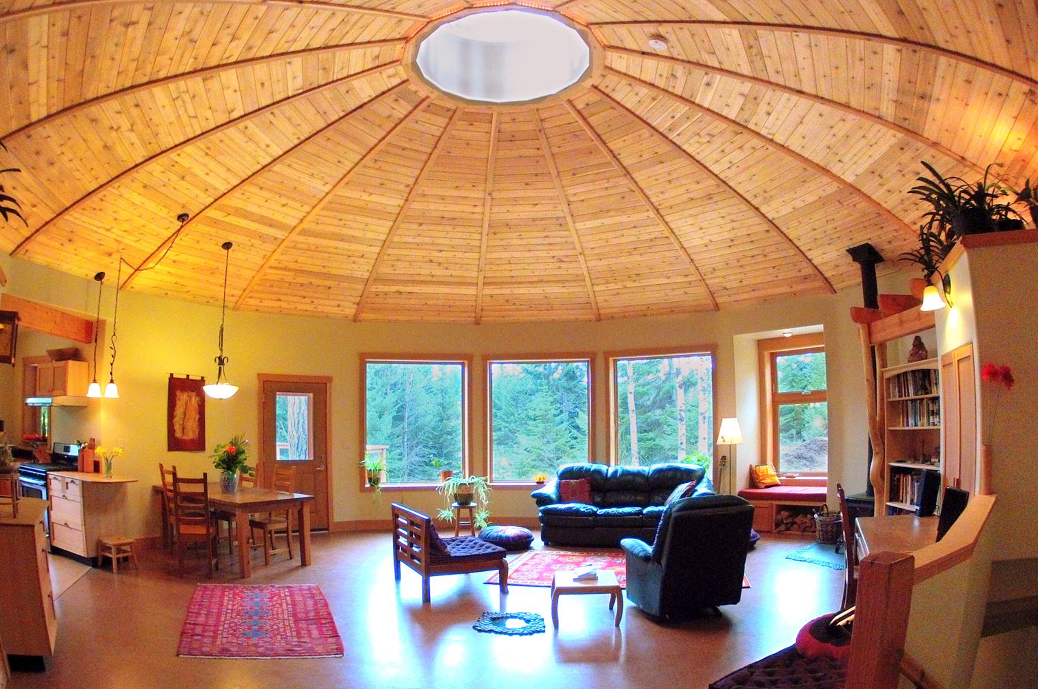 Interiors mandala homes prefab round homes energy for Round home designs