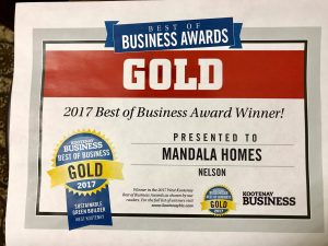 Mandala Homes won GOLD!