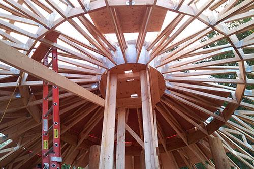 step-4-truss-roof-system | Mandala Homes - Prefab Round Homes ...