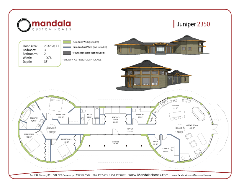 Juniper Series Floor Plans Mandala, Bc Box House Plans