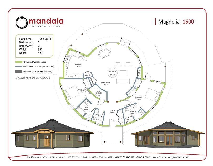 Magnolia series floor plans mandala homes prefab round - Magnolia homes floor plans ...